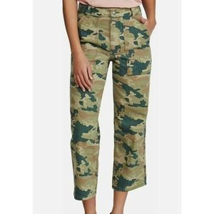 Free People army fatigue jeans green size 2